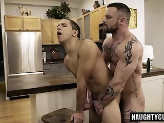 Tattoo gay anal sex and facial