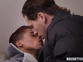 Big cock gay interracial and cumshot