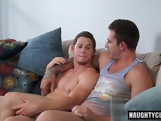 Tattoo gay anal sex and creampie