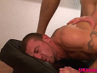 Euro stud spitroasted by two cocks