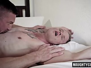 Tattoo daddy anal sex and facial cum
