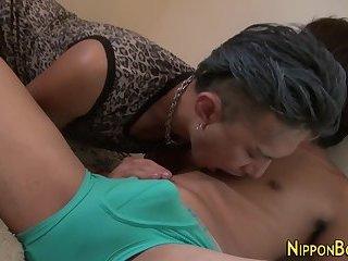Gay asian anally toyed