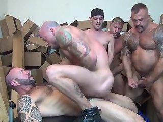 Warehouse group-sex