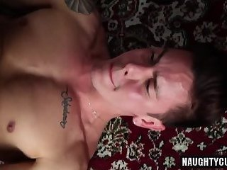 Latin gay anal sex and facial