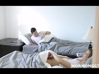 Two Mormon Boys Play With Each Others Cocks