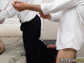 Gay mormons 3way fuck